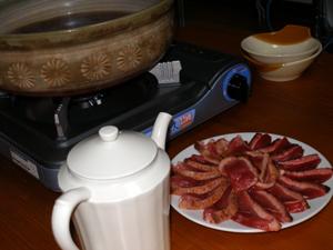 シャラン鴨鍋