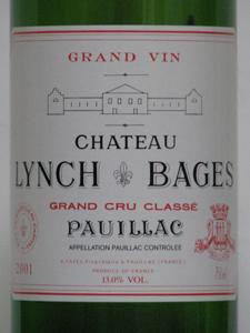 Ch. Lynch bages Pauillac grand cru classé 2001