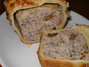 Pâté en croûte -鶏肉とキノコのパテ-