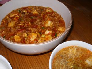 麻婆豆腐と酸辣湯