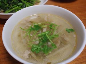 搾菜肉絲湯