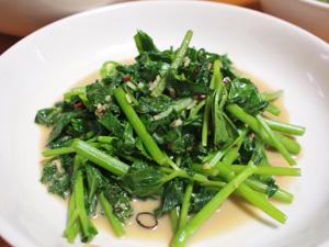 青菜腐乳炒め
